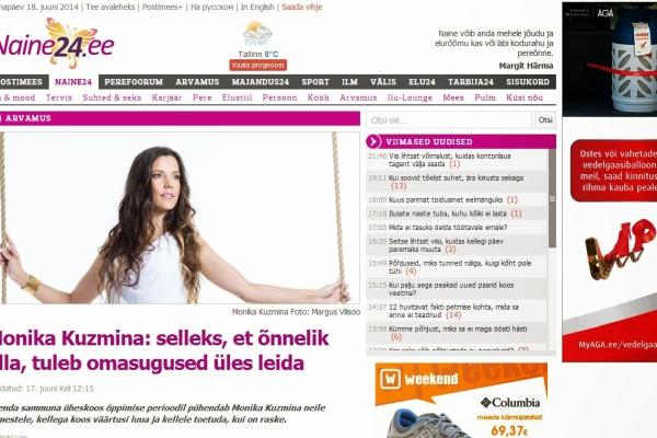 Naine24 -Monika Kuzmina - selleks, et õnnelik olla, tuleb omasugused üles leida - artikkel - väiksem